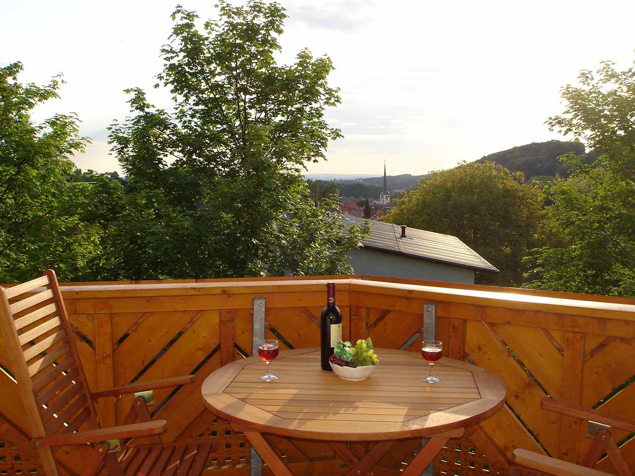 Ferienwohnung Freudensprung - Aussicht vom Balkon